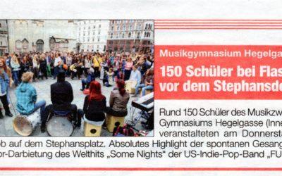 Flashmob Stephansplatz und Westbahnhof, Juni 2013