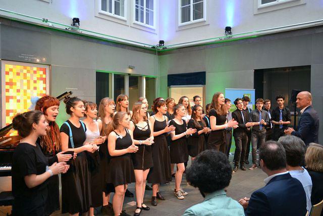 """7C beim """"Abend der Vielfalt"""" im Haus der Musik, Juni 2018"""