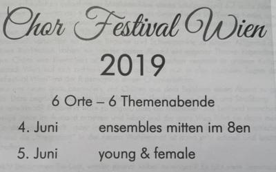 6C beim Chorfestival Wien, Juni 2019
