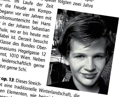 Niklas Chroust (7C) Preisträger bei Kompositionswettbewerb, Dezember 2020
